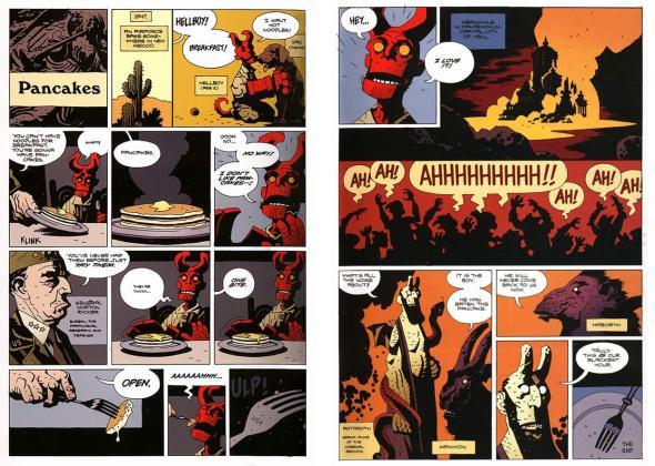 Hellboy Pancakes
